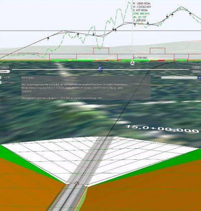 3D Visualisierung von Eisenbahn- und Trassenbauplanung