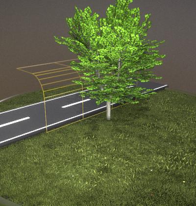 Detailliertes 3D-Baum-Modell Typ Linden