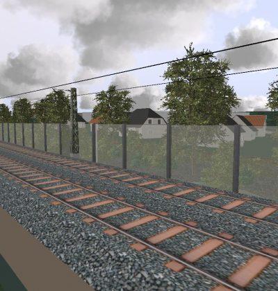 3D Visualisierung von transparenter Lärmschutzwänden