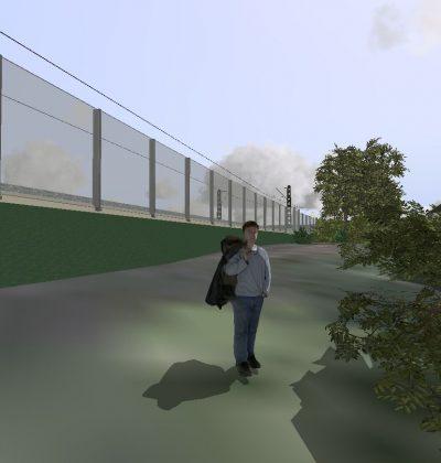 Professionelle Planung von Zugverkehrs-Lärmschutzwände