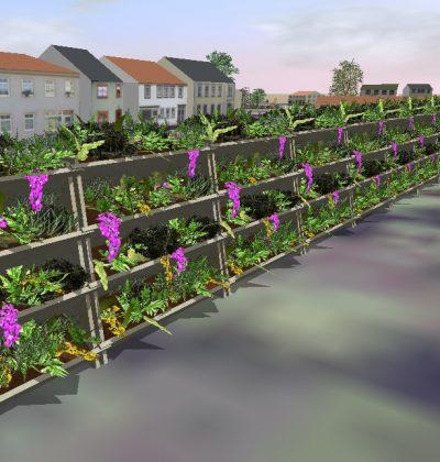 3D Visualisierung und Planung von grüner Lärmschutzwände