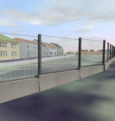 3D Visualisierung und Planung der Lärmschutzwand aus Glas