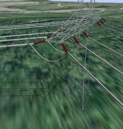 3D Visualisierung von Freileitungsmasten
