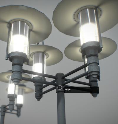 3D Modelle - Aufsatzleuchte - klassisch - download - kaufen