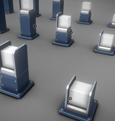 3D Modelle - Strassenlicht - Street Light Bollard Blue - download