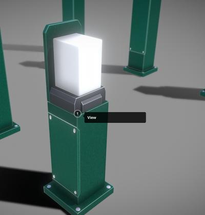 3D Modelle - Strassenlicht - Street Light Bollard Moss Green - download