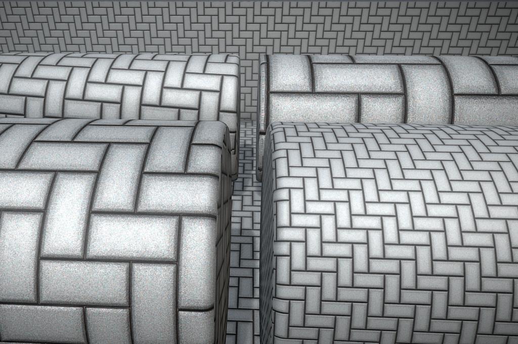 Nahtloses und kachelbares 4k-Textur-Set für Kopfsteinpflaster