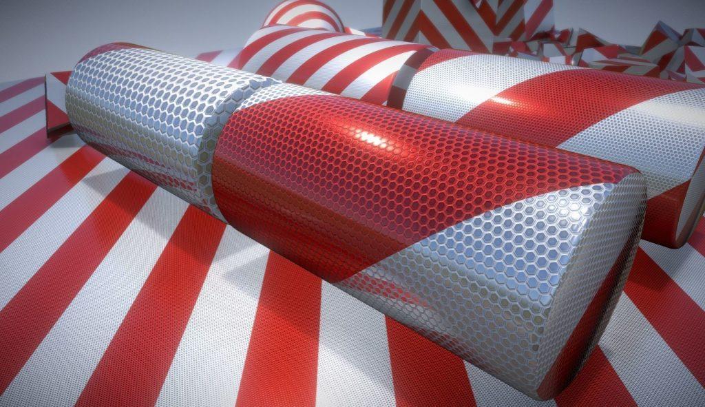 3D Texture - traffic reflection foil - CAD - CG - Design - downloads