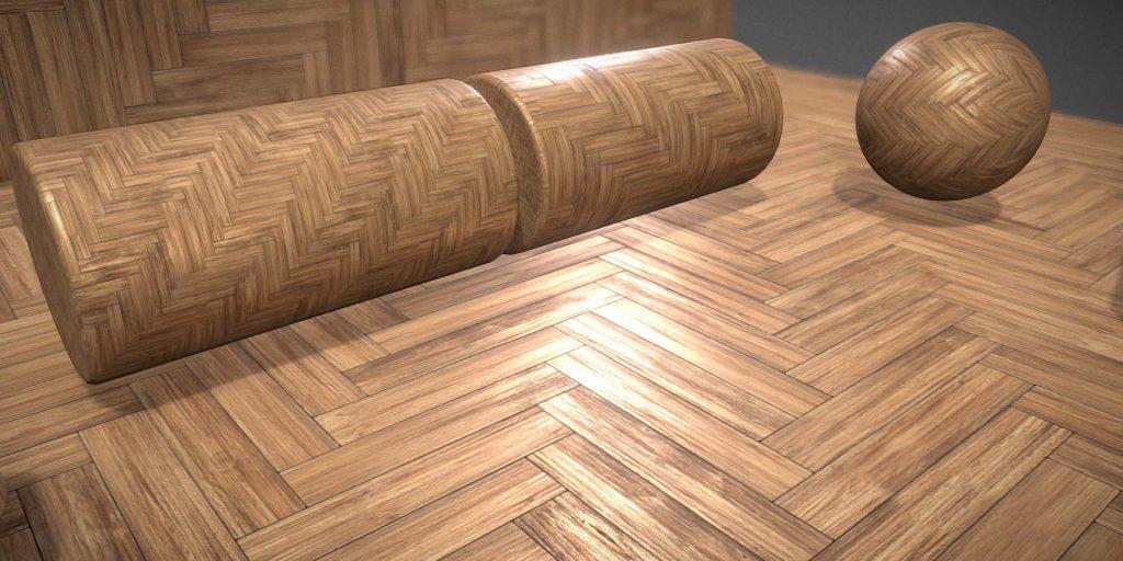 Nahtloses und kachelbares Textur-Set für Holzparkettböden