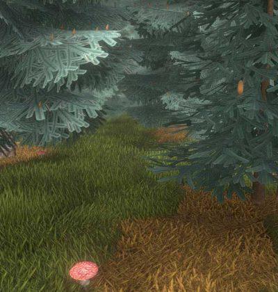 Detailliertes 3D-Baum-Modell Typ Blautannen