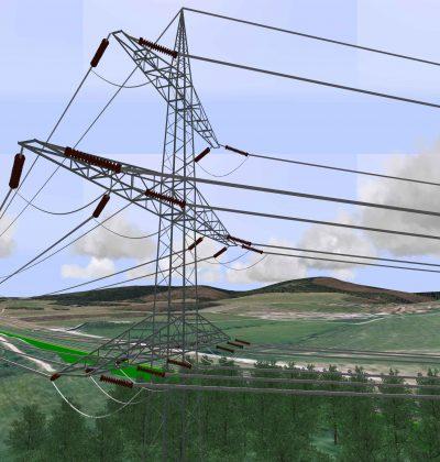 GIS-integrierte 3D-Visualisierung von Stromtrassen