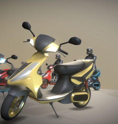 Hochdetailliertes 3D-Modell: Mofa