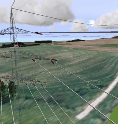 Freileitungen in 3D visualisieren, simulieren, analysieren