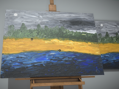 3D Model - Oil Painting - Mist Foehr - Texture