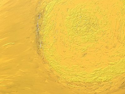 3D Model download- Oil Painting - Yellow Circle_Details1