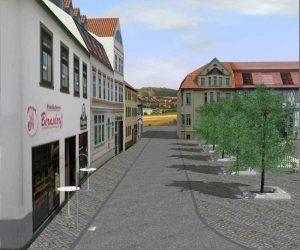 Architekturvisualisierung : Altstadt mit dem Marktplatz Projekt