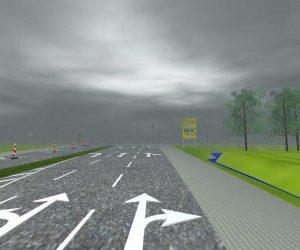 3D-Modellierung - Baustellen auf Straßen: Leitbaken und Sicherheitsbaken