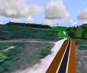 GIS-gestützte 3D-Visualisierung im Straßenbau: 3D Entwürfe