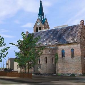 3D Visualisierung von Verktordaten: Kirche