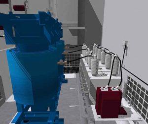 3D Visualisierung und Planung: Mittelspannungsanlage