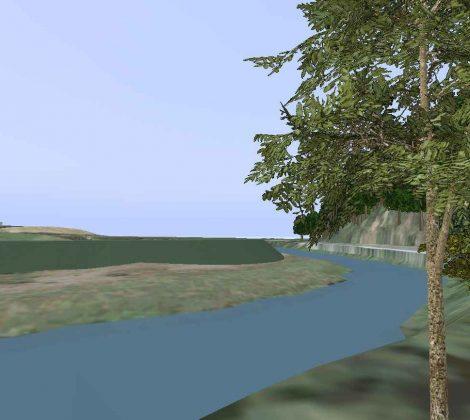 3D Visualisierungssoftware für Planung zum Hochwasserschutz
