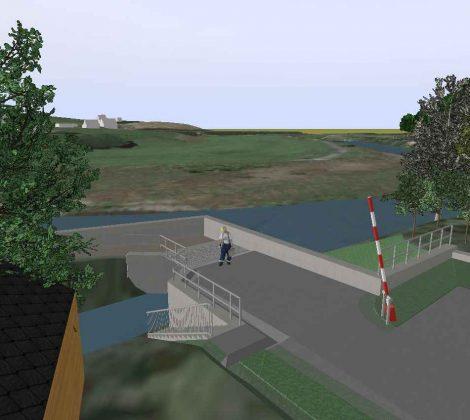 3D Visualisierungssoftware für Deichplanung in Rosswein