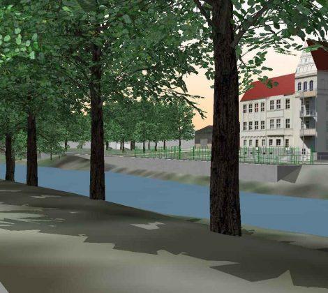 Vorsorgende Hochwasserschutsimulation im Stadtgebiet