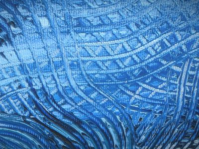 Blaue Verwandlung_2 - Oil Painting - 3D Model - Detail_2