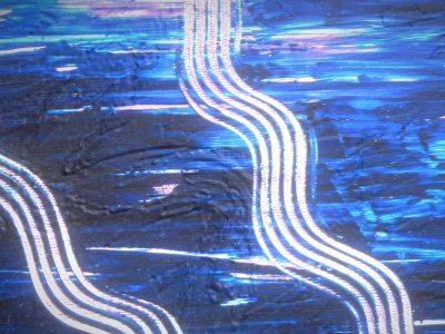 Blaue Verwandlung - 3D Model - Oil Painting_Detail_1