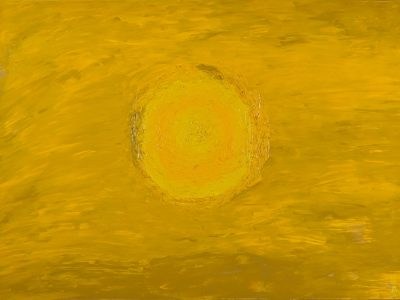 3D Model Download - Oil Painting - Yellow Circle