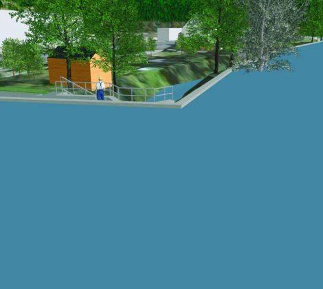 3D Planung von Deichen - Hochwasserschutzmaßnahme in Rosswein