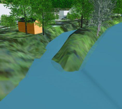 3D Visualisierungssoftware für Deichplanung: geplante Maßnahme
