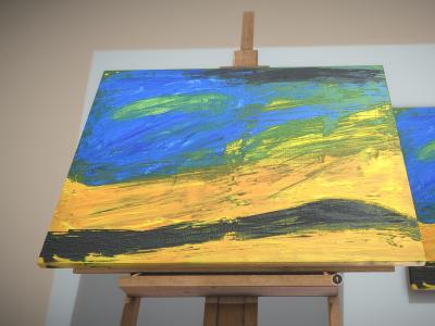 Landscape - Oil Painting - 3D Model download
