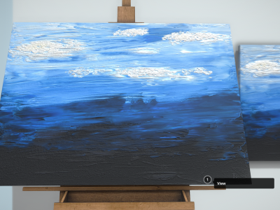 Oil Painting - Clouds - 3D Model - Download