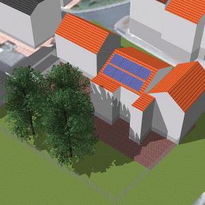 3D Software für Schattenanalyse und Simulation von Dachsolaranlage