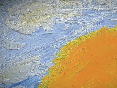 Sunrise - Oil Painting - 3D Model download - Detail_2