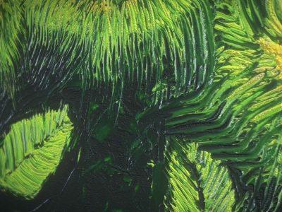 Three Flowers - Oil Painting - 3D Model - Detail_2