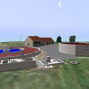 3D Visualisierung von Kläranlage und Sonderbauwerken für die Erweiterung, Erneuerung und Sanierung
