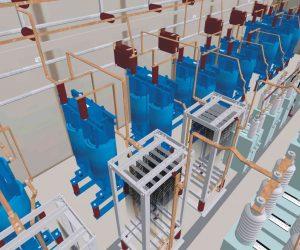 3D-Visualisierung: Transformatoren- und Mittelspannungsstationen