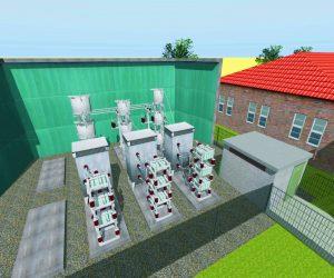 3d Visualisierung und Planung: Freiluft-Mittelspannungsanlage