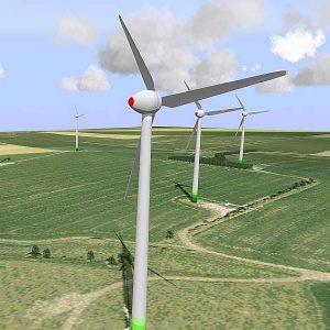 Sichtbarkeits- und Schattenanalyse für Windkraftanlagen