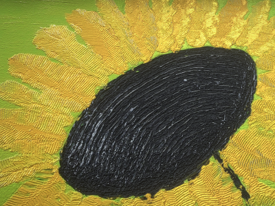 Yellow Flower- Oil Painting - 3D Model download - Detaill_Texture