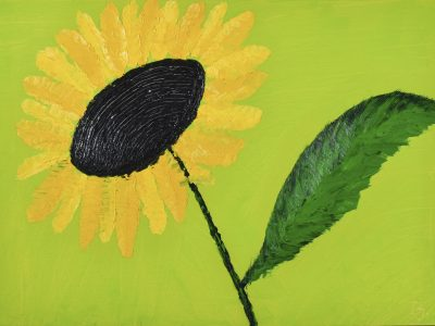 Yellow Flower- Oil Painting - 3D Model