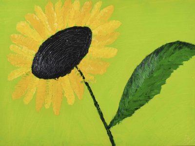 Yellow Flower- Oil Painting - 3D Model